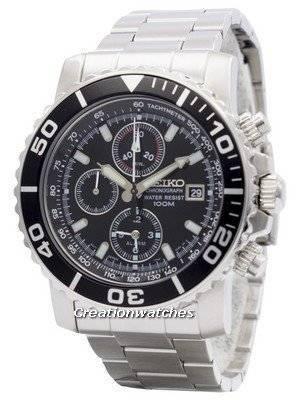 Seiko Alarm Chronograph SNA225 SNA225P1 SNA225P Men's Watch