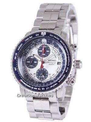 Seiko Flight Alarm Chronograph Pilot's SNA413 SNA413P1 SNA413P Men's Watch