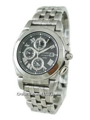 Seiko Quartz Alarm Chronograph SNA525 SNA525P1 SNA525P Men's Watch