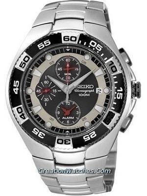 Seiko Men's Sports Alarm Chronograph SNA631P1 SNA631P SNA631
