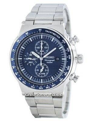 Seiko Quartz Chronograph Alarm SNAA43 SNAA43P1 SNAA43P Men's Watch