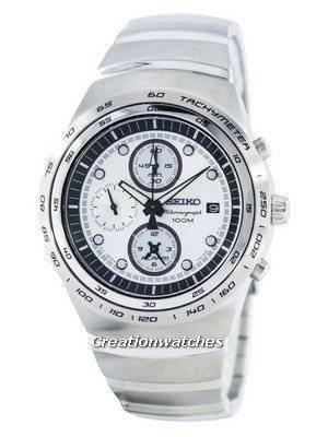 Seiko Quartz Chronograph Alarm SNAA81 SNAA81P1 SNAA81P Men's Watch