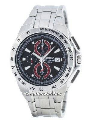 Seiko Quartz Chronograph Alarm SNAB07 SNAB07P1 SNAB07P Men's Watch