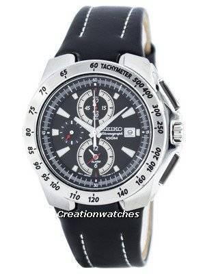 Seiko Quartz Chronograph Alarm SNAB11 SNAB11P1 SNAB11P Men's Watch