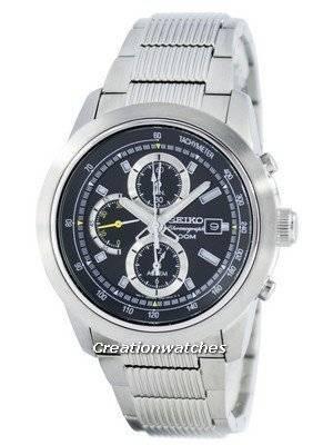 Seiko Quartz Chronograph Alarm SNAB17 SNAB17P1 SNAB17P Men's Watch