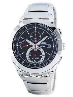Seiko Chronograph Quartz Alarm Tachymeter SNAB33 SNAB33P1 SNAB33P Men's Watch