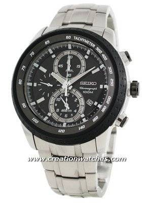 Seiko Chronograph Quartz SNAB51P1 SNAB51P SNAB51 Alarm Tachymeter Men's Watch