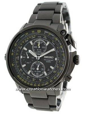 Seiko Chronograph Flight Master SNAB69P1 SNAB69P SNAB69 Men's Alarm Pilot's Watch