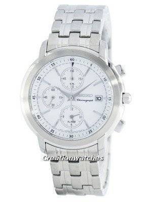 Seiko Chronograph Quartz Alarm SNAB75 SNAB75P1 SNAB75P Men's Watch