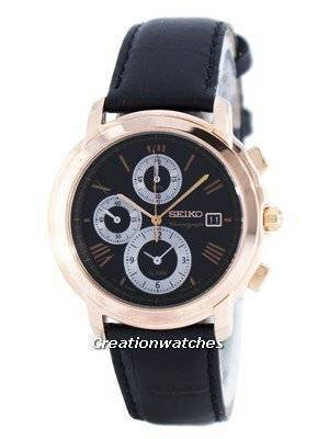 Seiko Chronograph Quartz Alarm SNAB80 SNAB80P1 SNAB80P Men's Watch