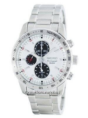 Seiko Quartz Alarm Chronograph Tachymeter SNAC05 SNAC05P1 SNAC05P Men's Watch