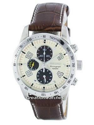 Seiko Quartz Alarm Chronograph Tachymeter SNAC09 SNAC09P1 SNAC09P Men's Watch