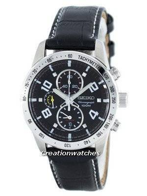 Seiko Quartz Alarm Chronograph Tachymeter SNAC13 SNAC13P1 SNAC13P Men's Watch