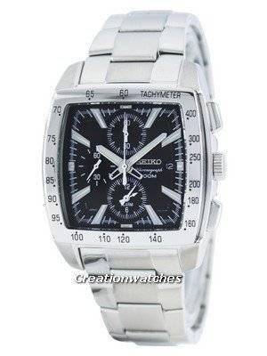 Seiko Quartz Alarm Chronograph Tachymeter SNAC25 SNAC25P1 SNAC25P Men's Watch