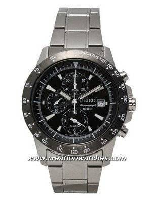 Seiko Chronograph Quartz SNAC49P1 SNAC49P SNAC49 Alarm Men's Watch