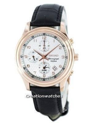 Seiko Quartz Alarm Chronograph SNAC82 SNAC82P1 SNAC82P Men's Watch