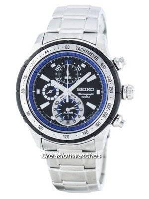 Seiko Quartz Alarm Chronograph Tachymeter SNAC85 SNAC85P1 SNAC85P Men's Watch