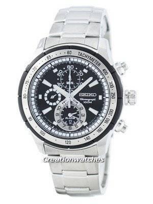 Seiko Quartz Alarm Chronograph Tachymeter SNAC87 SNAC87P1 SNAC87P Men's Watch