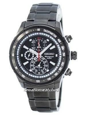 Seiko Quartz Alarm Chronograph Tachymeter SNAC91 SNAC91P1 SNAC91P Men's Watch
