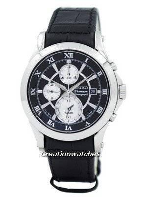 Seiko Premier Chronograph Alarm Watch SNAD29P1 SNAD29P SNAD29