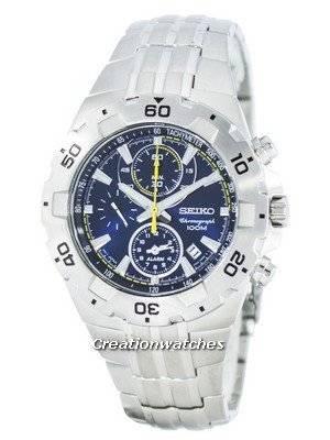 Seiko Quartz Alarm Chronograph Tachymeter SNAD33 SNAD33P1 SNAD33P Men's Watch