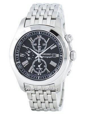 Seiko Quartz Alarm Chronograph SNAE31 SNAE31P1 SNAE31P Men's Watch