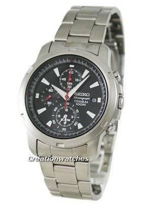 Seiko Alarm Chronograph Titanium SNAE47P1 SNAE47 SNAE47P Men's Watch