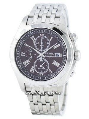 Seiko Quartz Alarm Chronograph SNAE51 SNAE51P1 SNAE51P Men's Watch