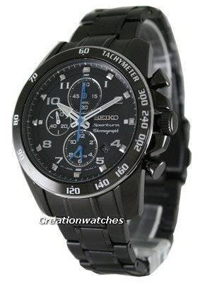 Seiko Sportura Alarm Chronograph SNAE77P1 SNAE77P SNAE77 Mens Watch