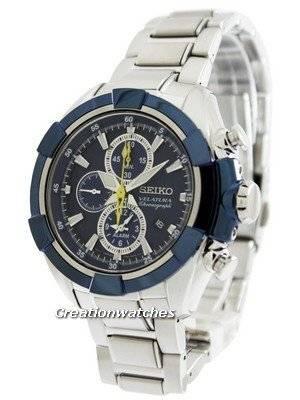 Seiko Velatura Alarm Chronograph SNAF41 SNAF41P1 SNAF41P Men's Watch