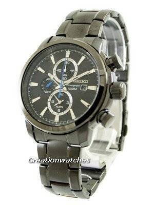 Seiko Chronograph 100M Alarm SNAF49 SNAF49P1 SNAF49P Men's Watch