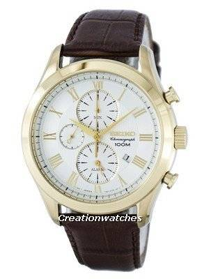 Seiko Chronograph Quartz Alarm SNAF72 SNAF72P1 SNAF72P Men's Watch