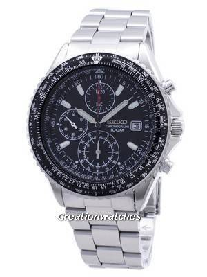 Seiko Flightmaster Pilot Slide Rule Chronograph SND253 SND253P1 SND253P Men's Watch