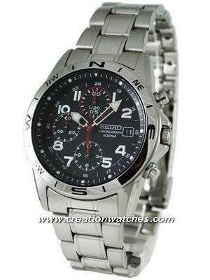 Seiko Chronograph SND375P1 SND375 SND375P Men's Watch