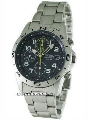 Seiko Chronograph SND379P1 SND379 SND379P Men's Watch