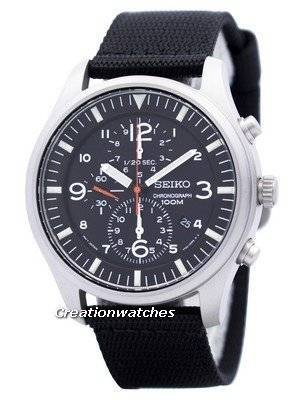 Seiko Quartz Chronograph Nylon Strap SNDA57 SNDA57P1 SNDA57P Men's Watch
