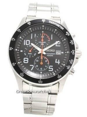 Seiko Tachymeter Chronograph SNDA83P1 SNDA83P SNDA83 Men's Motor Sports Watch