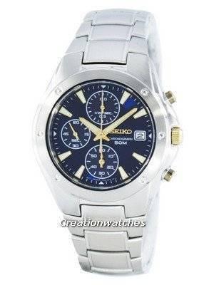 Seiko Quartz Chronograph SNDB01 SNDB01P1 SNDB01P Men's Watch