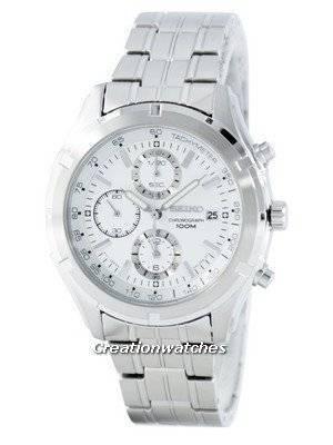 Seiko Quartz Chronograph Tachymeter SNDC35 SNDC35P1 SNDC35P Men's Watch