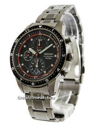 Seiko Chronograph 100M Black Bezel SNDF41 SNDF41P1 SNDF41P Men's Watch