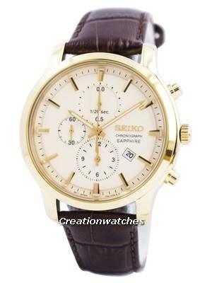 Seiko Chronograph Quartz Sapphire SNDG70 SNDG70P1 SNDG70P Men's Watch