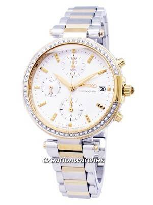 Seiko Chronograph Quartz Diamond Accent SNDV42 SNDV42P1 SNDV42P Women's Watch