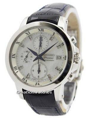 Seiko Premier Chronograph Diamonds Dial Indices SNDV59P2 Women's Watch