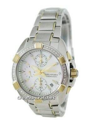 Seiko Velatura Chronograph SNDZ38P1 Ladies Watch with 53 Diamonds