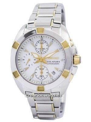 Seiko Velatura Chronograph SNDZ40 SNDZ40P1 SNDZ40P Ladies Diamonds Collection Watch