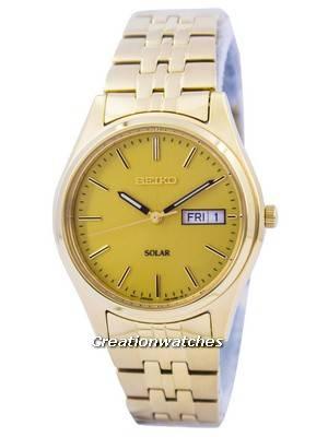 Seiko Core Solar Gold Tone SNE036 SNE036P1 SNE036P Men's Watch
