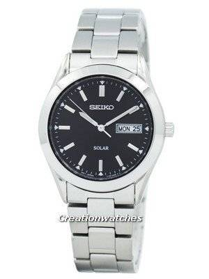 Seiko Solar Quartz SNE039 SNE039P1 SNE039P Men's Watch