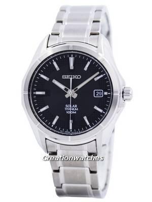 Seiko Solar Titanium 100M SNE141 SNE141P1 SNE141P Men's Watch