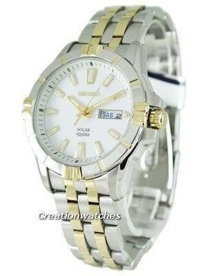 Seiko Solar SNE162 SNE162P1 SNE162P Men's Watch