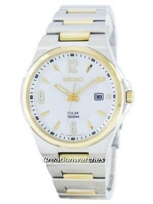 Seiko Solar SNE210 SNE210P1 SNE210P Men's Watch